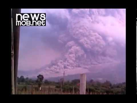 Ash Cloud from Mount Sinabung eruption - Indonesia