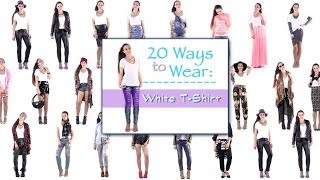 20 Ways To Wear A T Shirt ! Outfit Ideas How To Wear A T