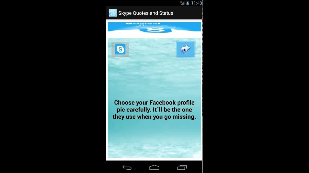 how to change skype status on android