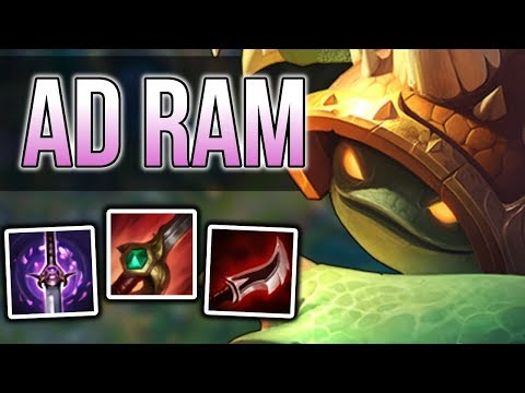 How to AD Rammus Jungle Carry - Rammus Jungle Commentary Guide - League of Legends Season 8