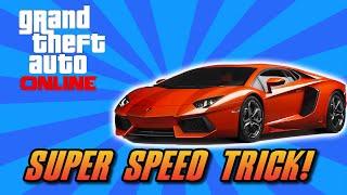 GTA 5 Online Super Speed Upgrade Trick GTA 5 Secret