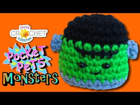 Amigurumi Frankenstein Crochet Pattern - Jayda's Pocket Monsters!