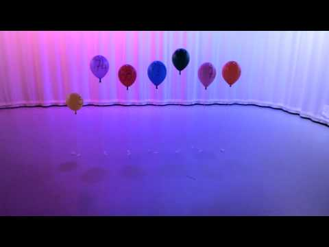 Bar Graph balloons with fast moving lighting effect
