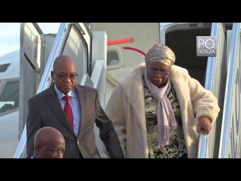 President Jacob Zuma arrives in Brazil ahead of World Cup Final and the 6th Brics Summit