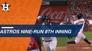 Astros use 9-run 8th inning to stun Angels