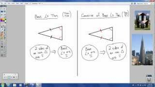 Geometry - 4.6 - Isosceles, Equilateral, and Right Triangles
