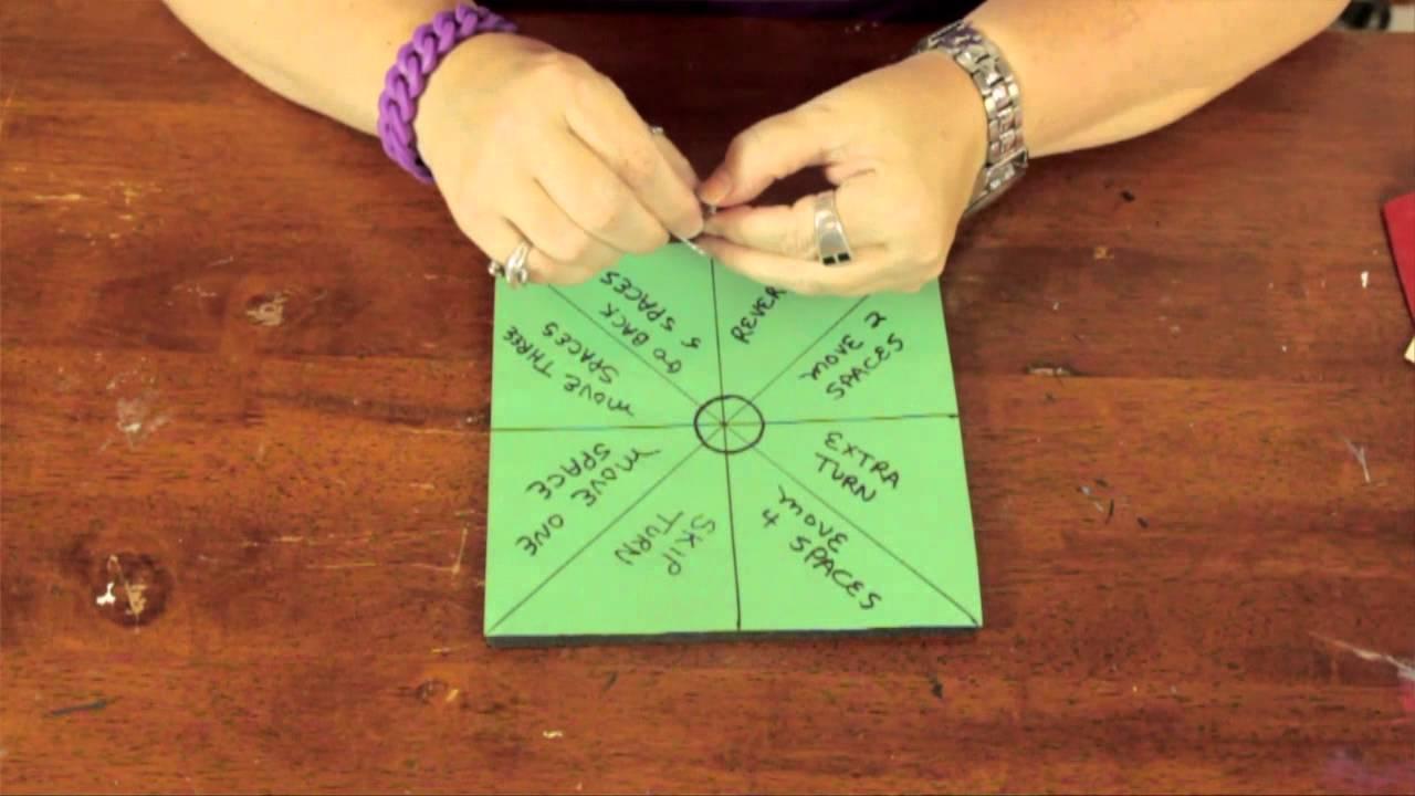 Make spinner paper clip