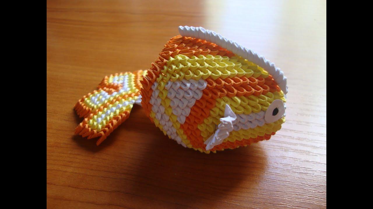 3d origami mini koi fish youtube for Miniature koi fish