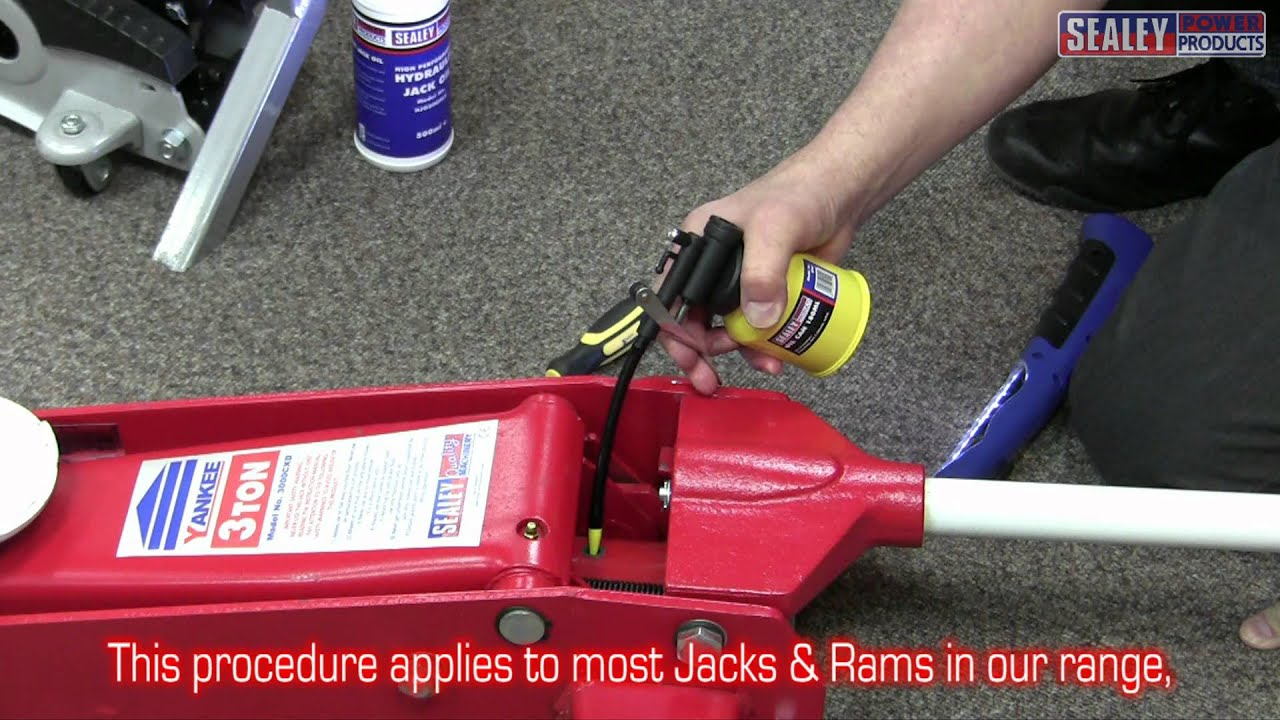Sealey Trolley Jack Oil Top Up Procedure Youtube