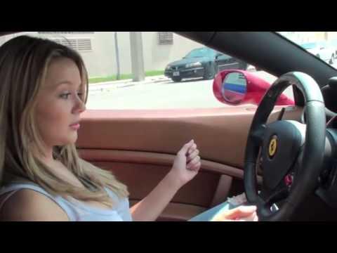 girl Driving a Ferrari