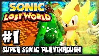 Sonic Lost World Wii U (2K HD) Super Sonic Playthrough