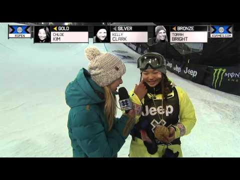 Chloe Kim wins gold in Women's Snowboard SuperPipe