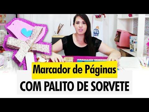 Marcador de Páginas com Palito de Sorvete - DIY / Reciclagem ★