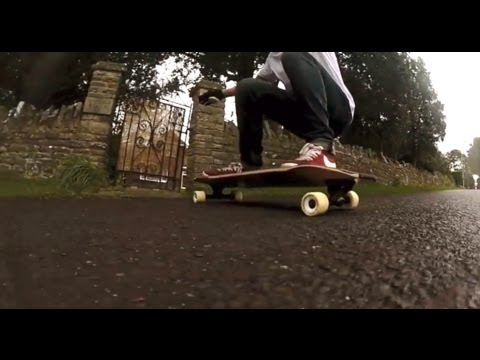 Slow Motion Longboarding in the Rain