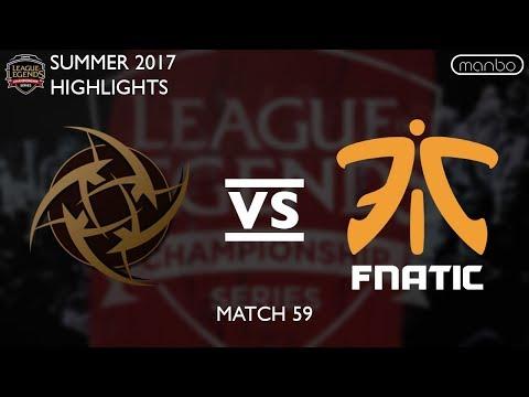 NIP vs FNC All Games Highlights EU LCS Summer 2017 Ninjas in Pyjamas vs Fnatic LoL eSports