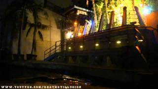 Jurassic Park In The Dark Halloween Horror Nights On-ride Front (HD POV) Universal Studios Hollywood