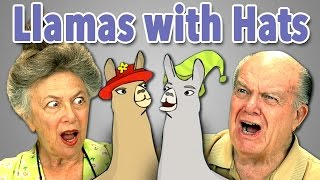 ELDERS REACT TO LLAMAS WITH HATS