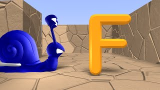 Learn the Alphabet for Toddlers, Preschoolers and Kindergarten - Alphabet Song Maze