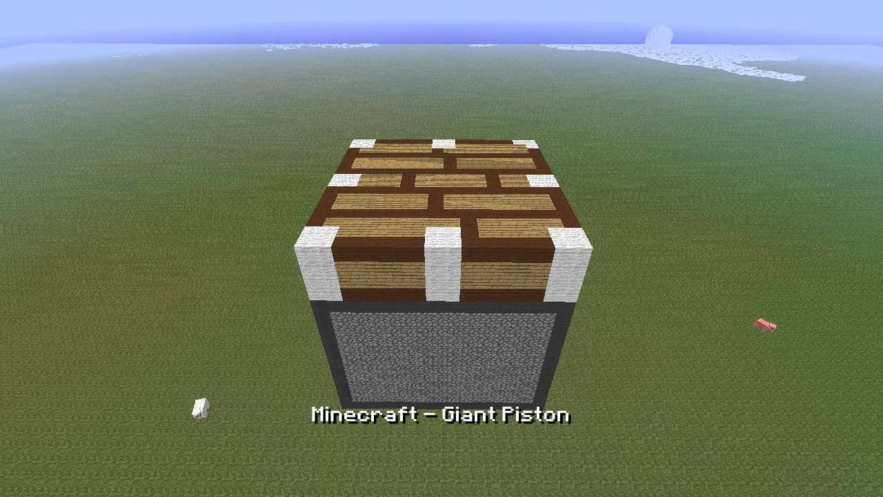 Minecraft - Giant Piston with download - YouTube