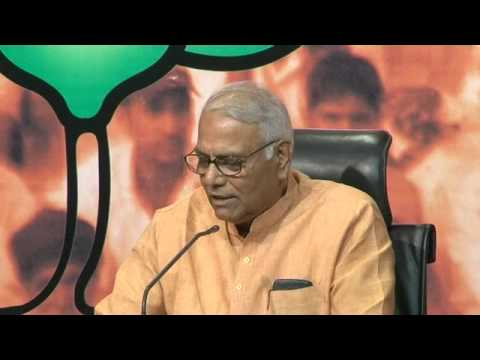 BJP Press Conference by Shri Yashwant Sinha on Economic issue 30th March 2014