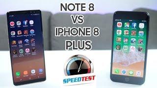 Speedtest iPhone 8 Plus vs Galaxy Note 8: Ông vua hiệu năng 2017 thuộc về... [ENGSUB]