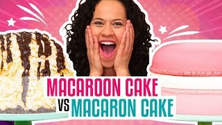 How To Make A Giant Coconut Macaroon & French Macaron out of CAKE   Yolanda Gampp   How To Cake It