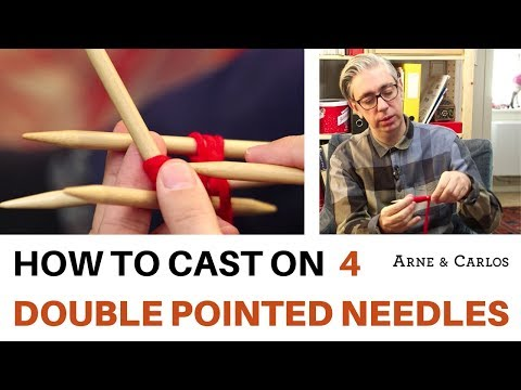 How to cast on 4 double pointed needles the easiest way by ARNE&CARLOS