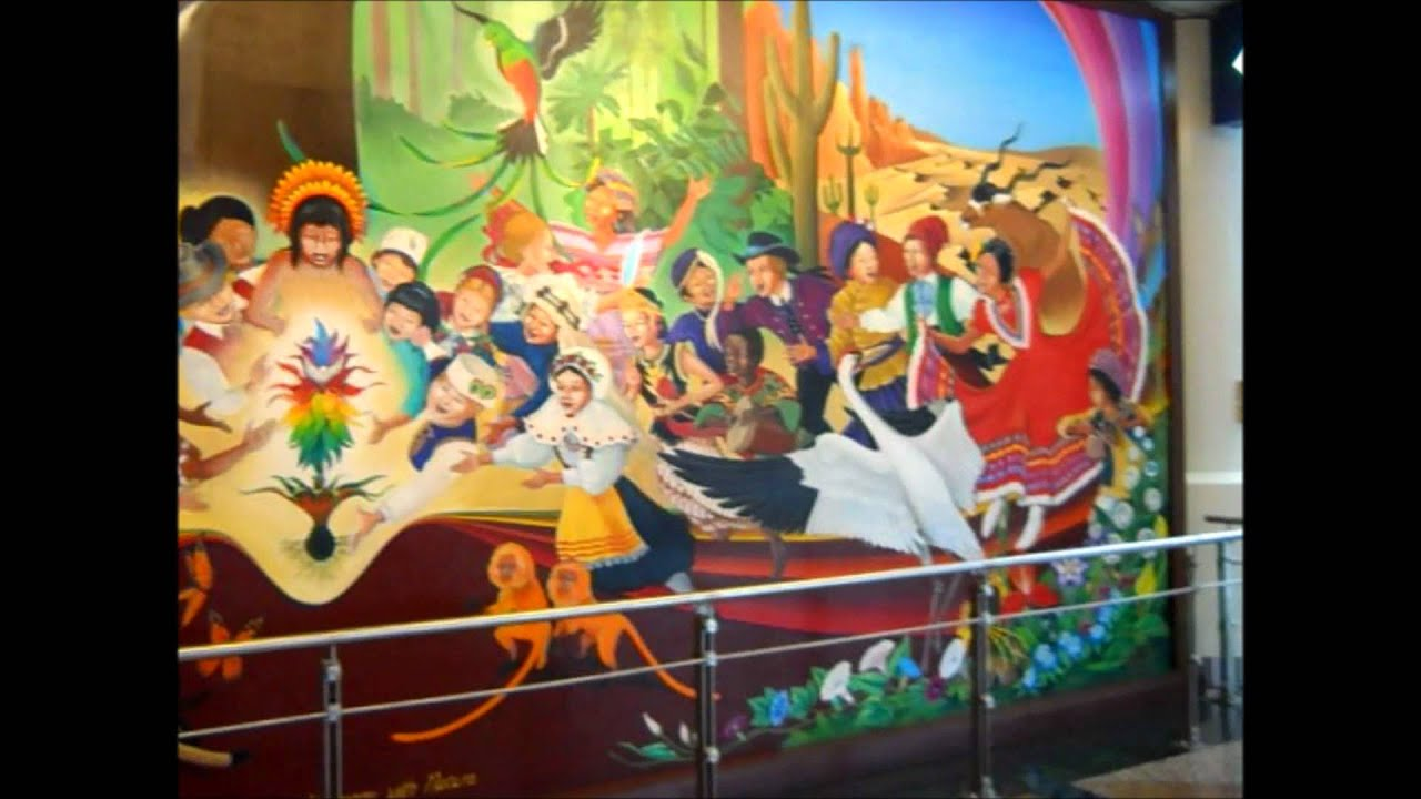 Denver international airport murals and freemason keystone for Denver mural conspiracy