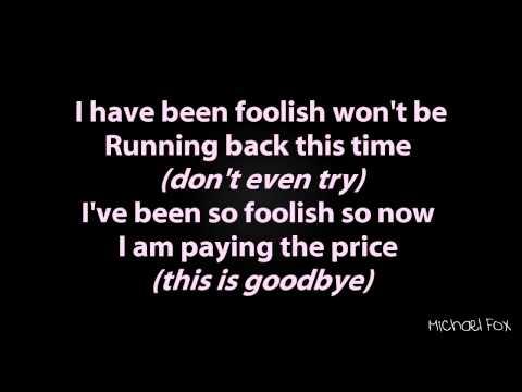 foolish lyrics
