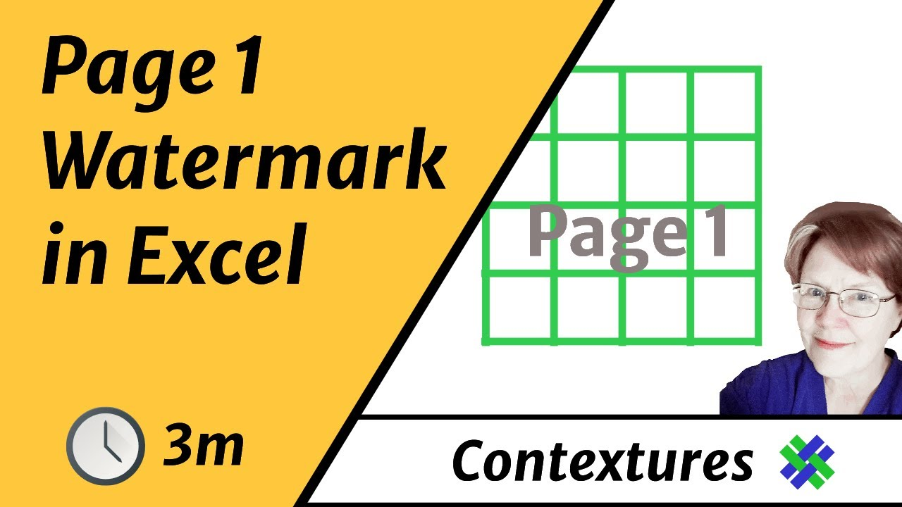 how to remove page 1 watermark in page break preview