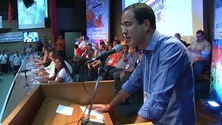 Douglas Pinheiro fala para mais de mil pessoas na Convenção Nacional do Solidariedade