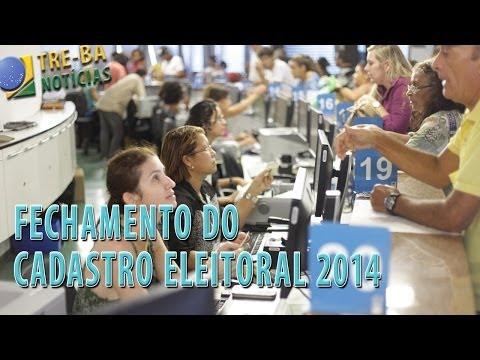 PLANTÃO TRE-BA Notícias: Fechamento do cadastro eleitoral 2014