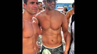 israel men on tel aviv beach israeli male beauty sport fun love art painting view on youtube.com tube online.