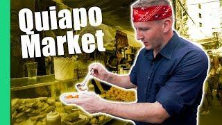 Filipino Street Food Tour in Quiapo Market, Manila (Turon, Kwek Kwek, Fried isaw)