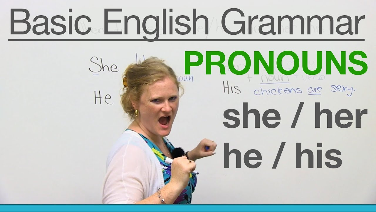Basic English Grammar  Pronouns - She  Her  He  His