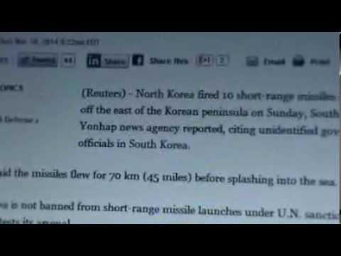 North Korea fires 10 short-range missiles: Yonhap