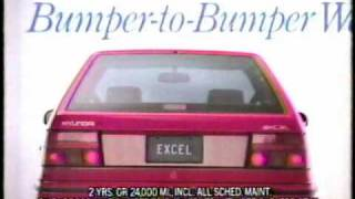 1992 Hyundai Excel TV commercial