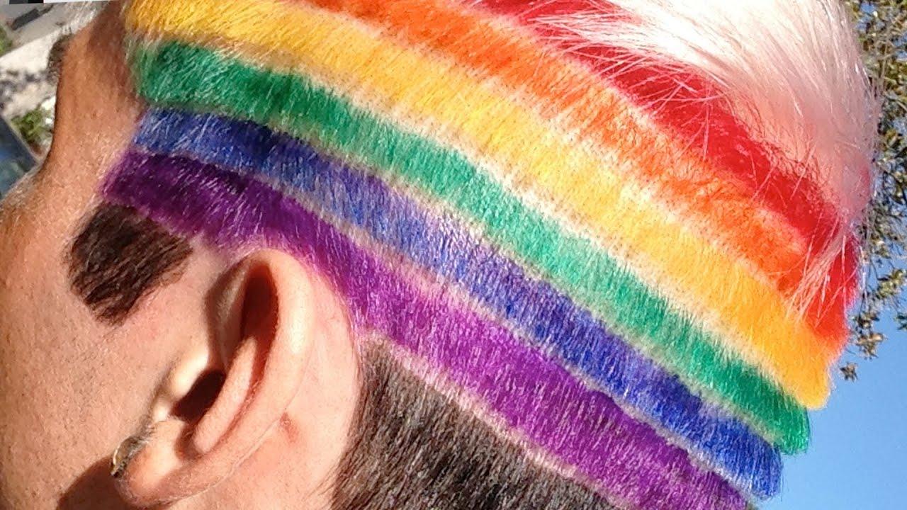 rainbow hair youtube