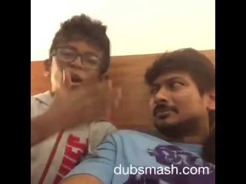 Udhaynidhistalin with his son - Dubsmash