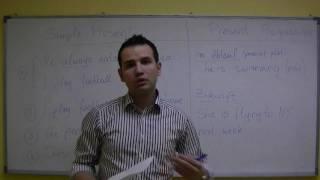 Simple Present Vs. Present Progressive (HD) Auf Deutsch