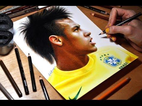 Drawing Neymar Júnior