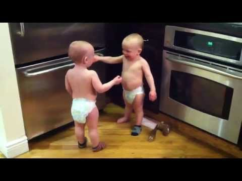 Twin Baby Boys Have A Conversation