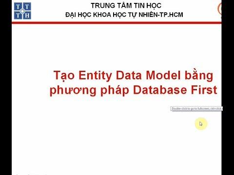 Tạo Entity data model bằng phương pháp DatabaseFirst