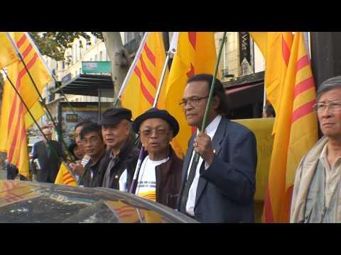 Biểu tình chống Nguyễn Tấn Dũng đến Paris
