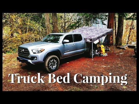 Camping on the Truck Bed of a 2017 Tacoma TRD Off Road