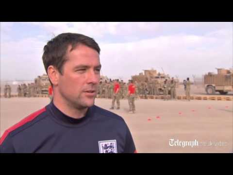 Michael Owen launches UK-Afghan football partnership in Camp Bastion