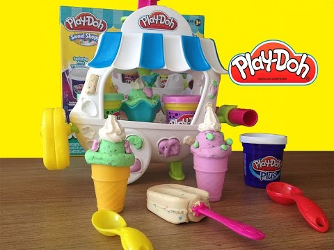 Play-Doh Ice Cream Sundae Cart Carrinho de Sorvetes Play Dough Sweet Shoppe Playset