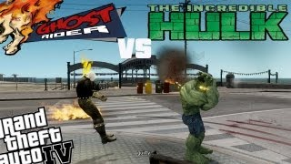 GTA IV Ghost Rider Mod + Hulk Mod - Ghost Rider vs Hulk! YOU GUILTY