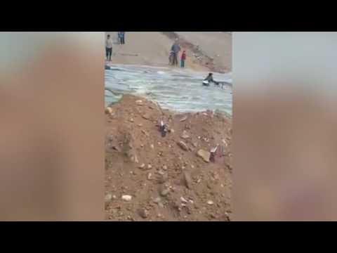 بالفيديو: لحظة غرق شاب في واد سوس بايت ملول
