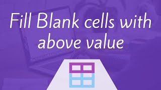Fill Blank cells with above value in Excel | Hindi